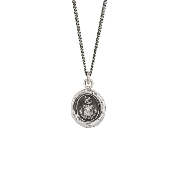 Pyrrha Talisman Necklace - Courage To Hope - Silver