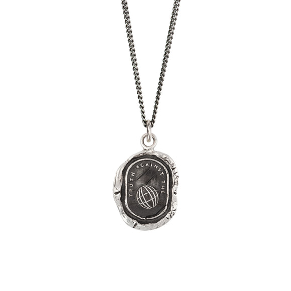 Pyrrha Talisman Necklace - Empowered - Silver