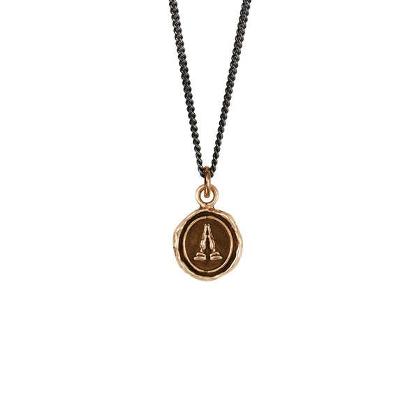 Pyrrha Talisman Necklace - Grateful - Bronze