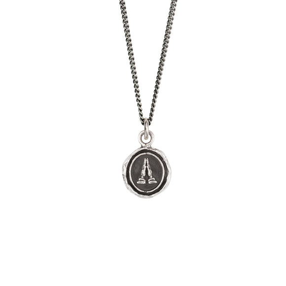 Pyrrha Talisman Necklace - Grateful - Silver
