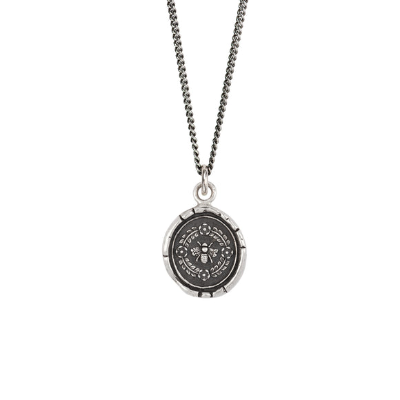 Pyrrha Talisman Necklace - Honeybee - Silver