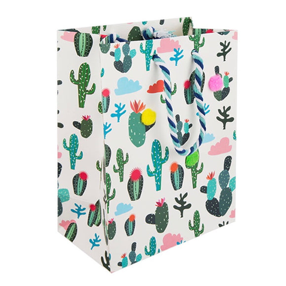 Medium Gift Bag - Cactus Clouds