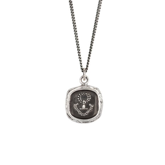 Pyrrha Talisman Necklace - Inner Strength - Silver