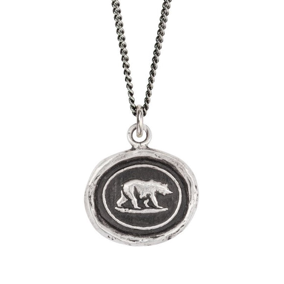 Pyrrha Talisman Necklace - Mother Bear - Silver