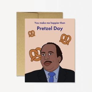 Card - The Office - Pretzel Day