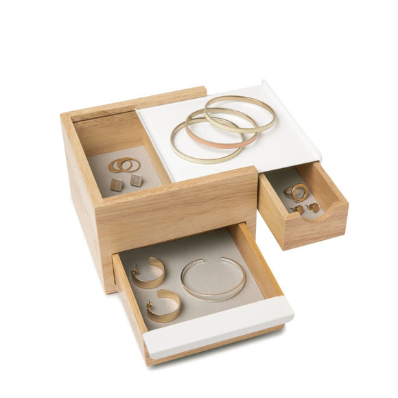Mini Stowit Jewellery Box - Natural