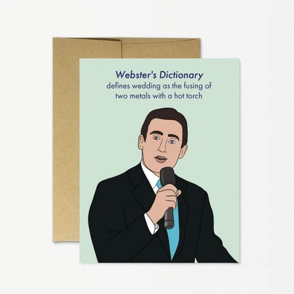 Card - The Office - Michael Scott Webster's Dictionary