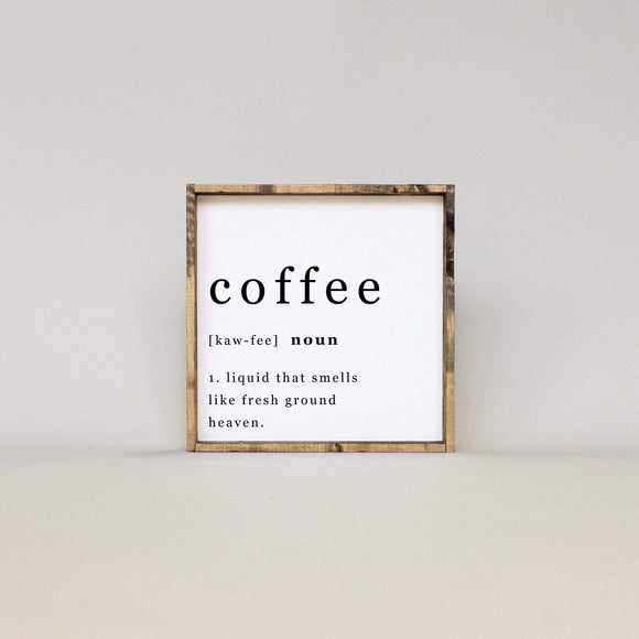 Coffee Noun Sign