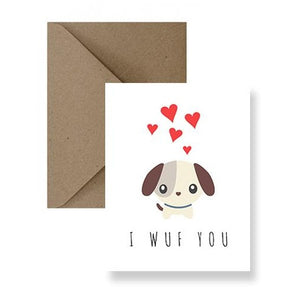 Card - I Wuf You
