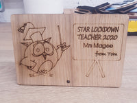 Star Lockdown Teacher 2020 - Wooden Plaque