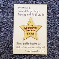 Star Lockdown Teacher 2020 - Fridge Magnet