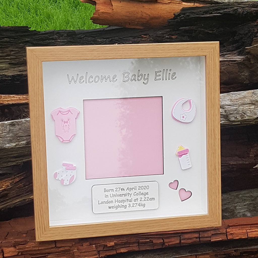 Welcome Baby Photo Frame Personalised