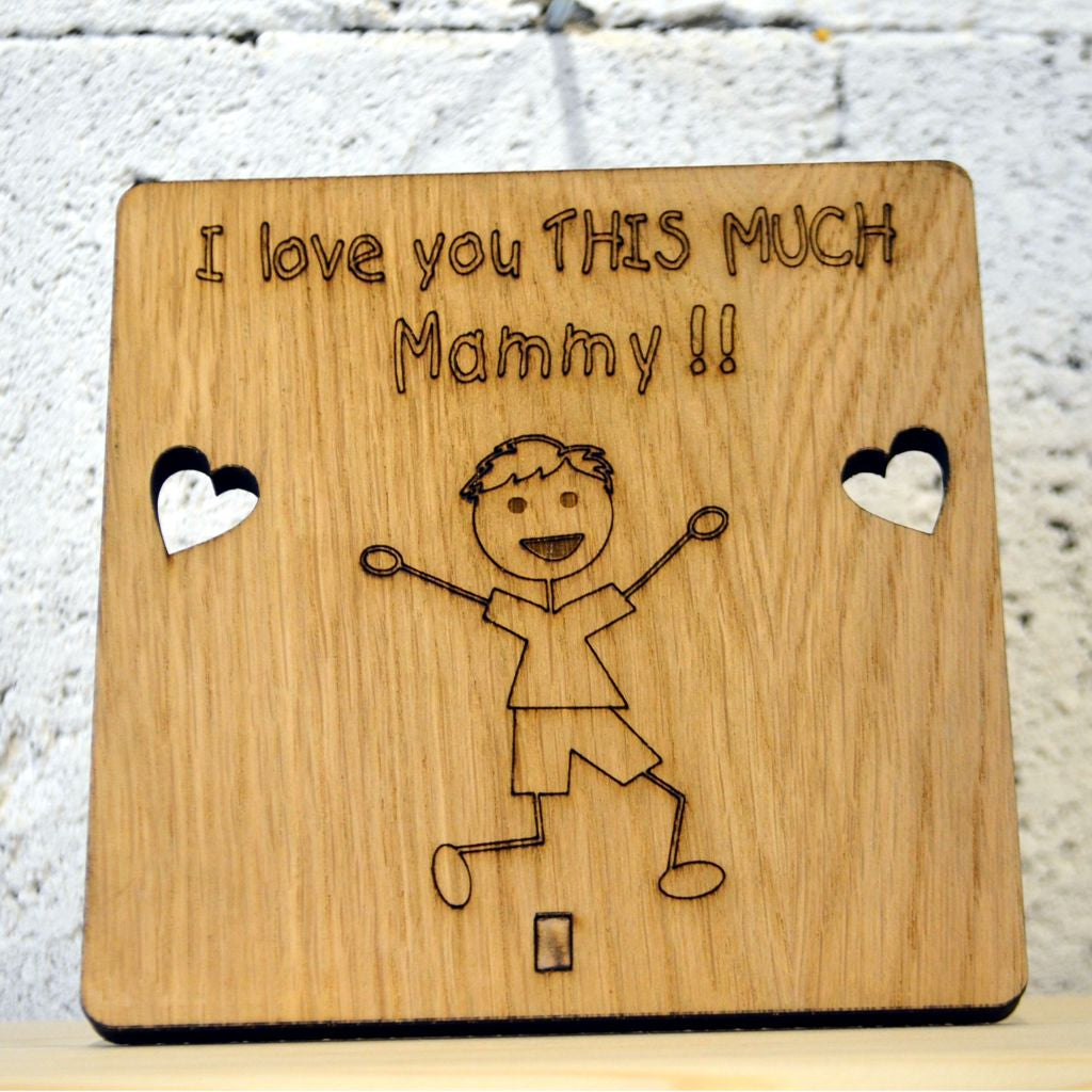 Dad I Love You Moon /& Back Fathers Day Small Wooden Plaque Sign /& Fridge Magnet