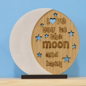 Love you to the moon and back - Wooden Plaque