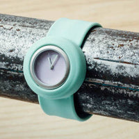 Green Lilac Contrast Slappie Watch
