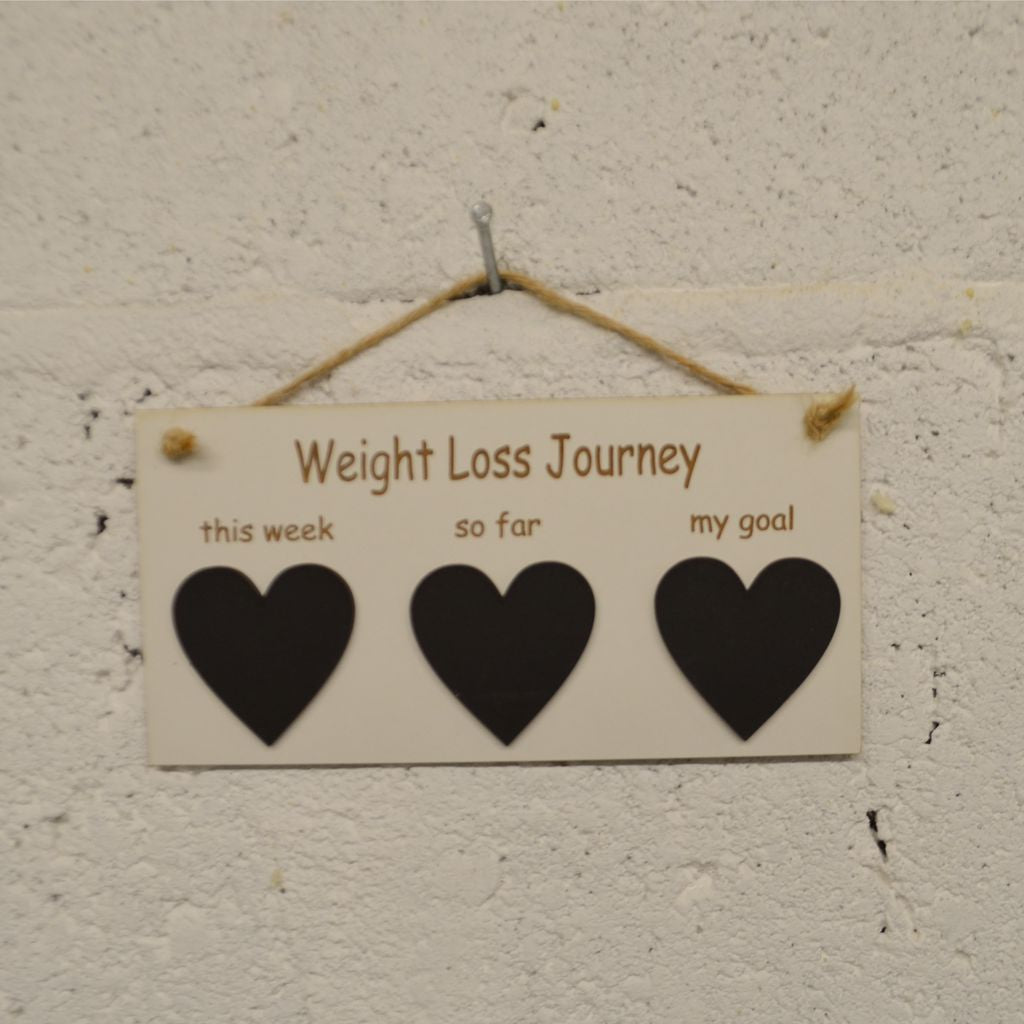 Weight Loss Tracker Plaque