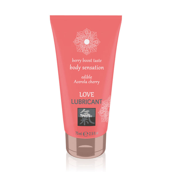 Shiatsu Love Lubricant Edible Acerola Cherry 75ml