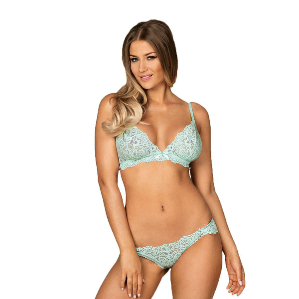 Delicanta Set Mint Bra And Panties