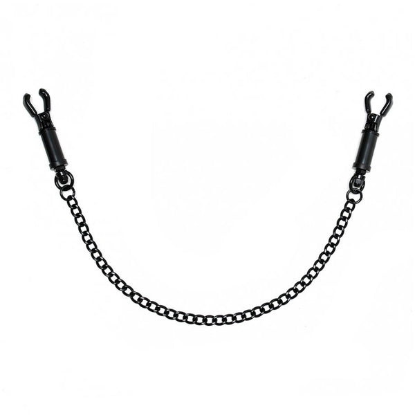 Black Metal Adjustable Nipple Clamps With Chain