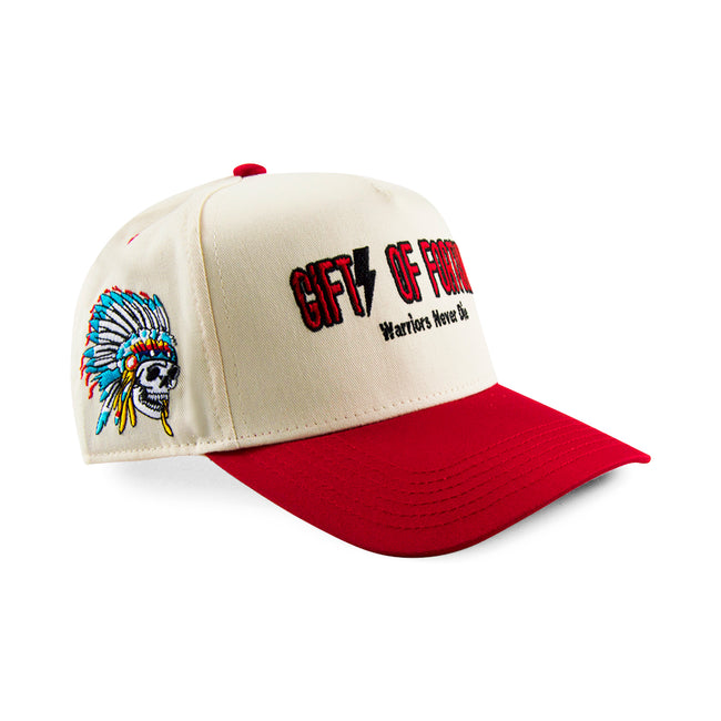 Red/Cream Indian Warrior Trucker