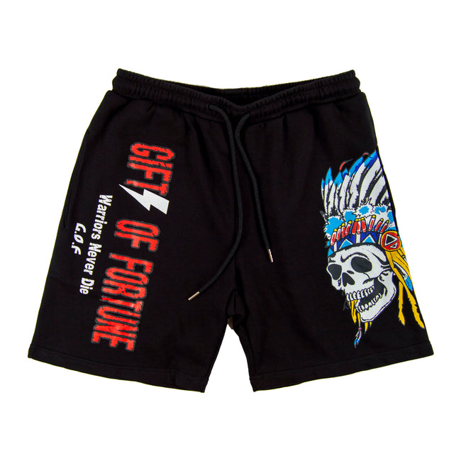 Indian Warrior Sweatshorts Black