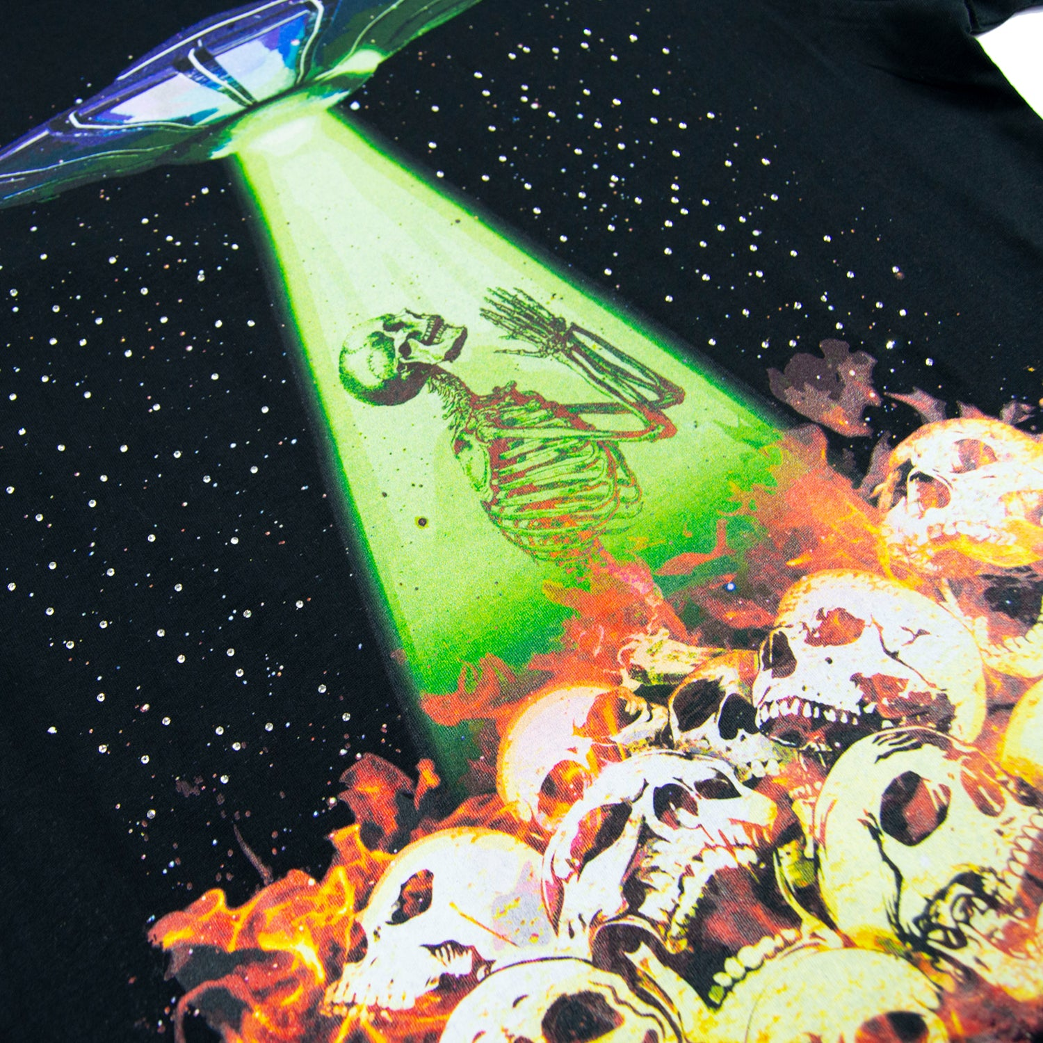 Fire, Skulls, & Spaceships T-shirt
