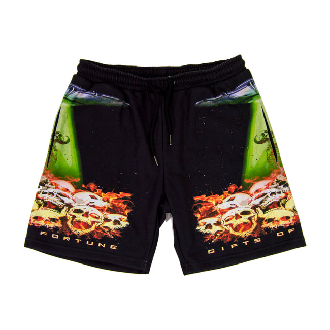 Fire, Skulls, & Spaceships sweatshorts - Gifts of Fortune