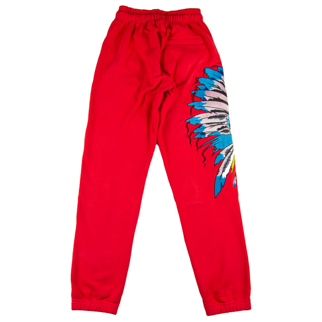 Indian Warrior Sweatpants Red