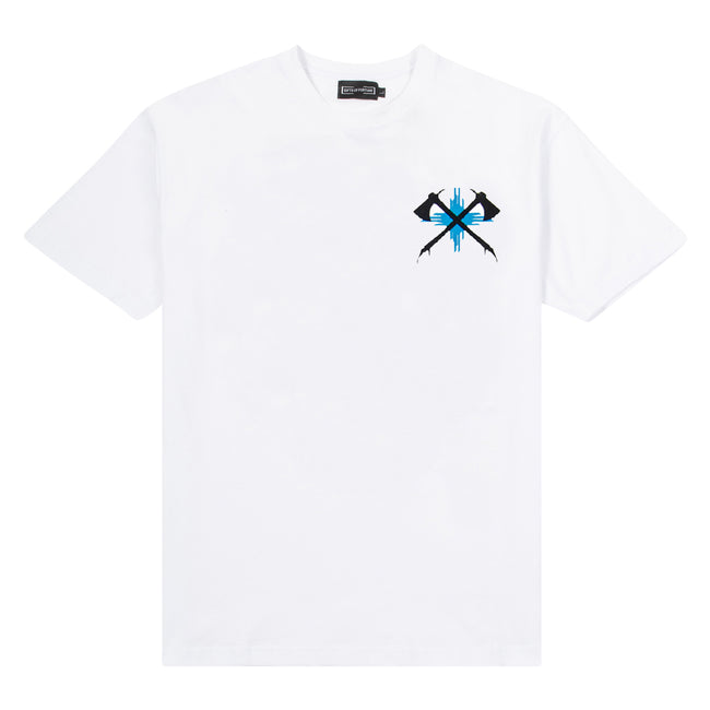 White/Blue Tomahawk T-shirt