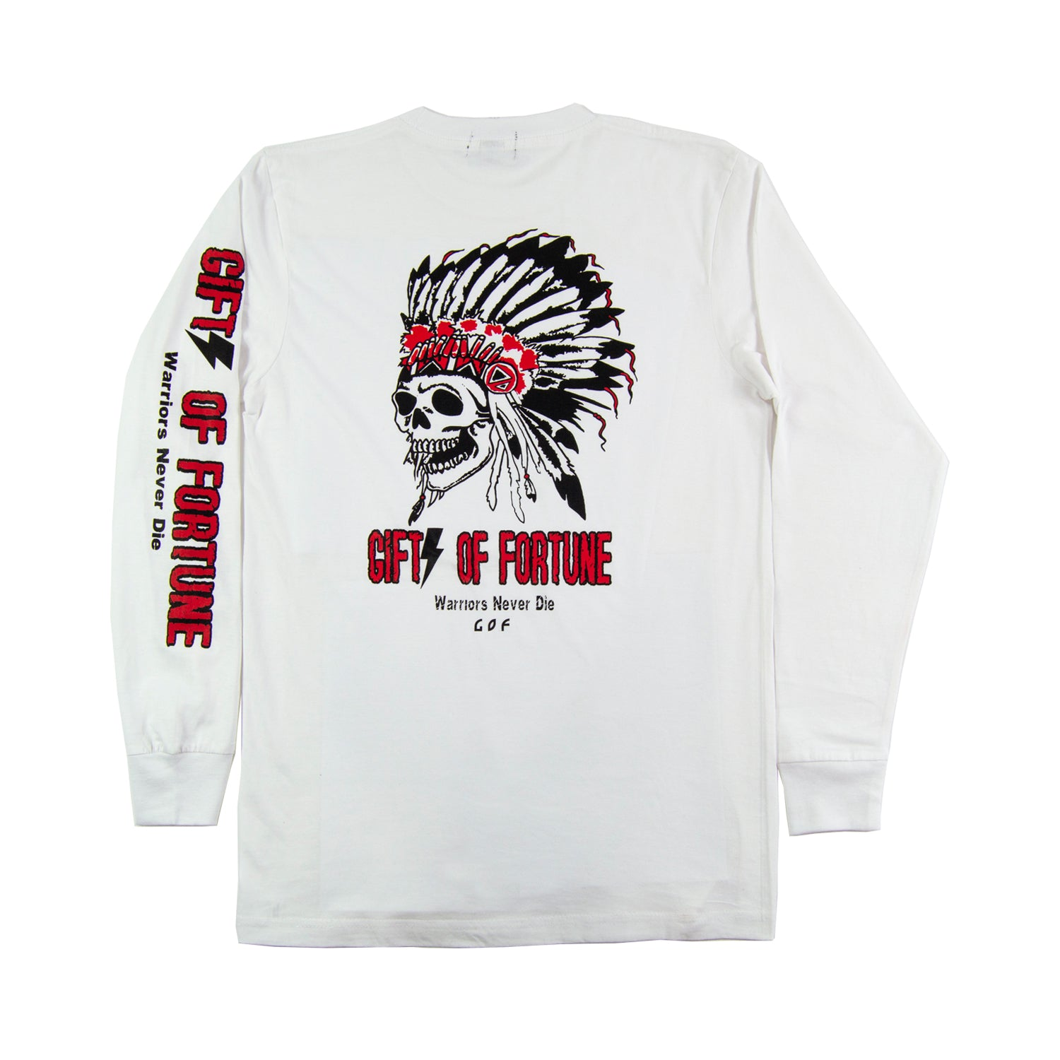 White Tomahawk Long Sleeve T-shirt
