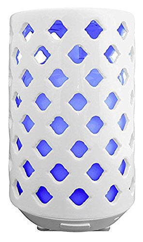 Perennial - Essential Oil Ultrasonic Cool Mist Ceramic Diffuser with Quick Start Guide