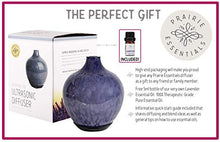 Hand Blown Marbled Blue Glass Essential Oils, 60ml Diffuser