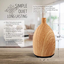 Woodgrain Silica Essential Oils Diffuser, 60ml, with 5ml Bottle of Lavender