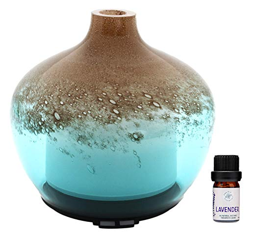 Tan and Turquoise Glass Essential Oils 200ml Diffuser