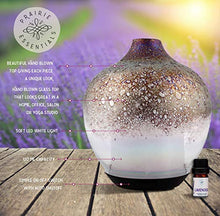 Hand Blown Opal Glass Essential Oils Diffuser, 120ml, with 5ml Bottle of Lavender