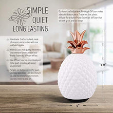 Ceramic Pineapple Essential Oils Diffuser, 120ml, with 5ml Bottle of Lavender