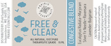 Free & Clear Congestive Essential Oil Blend, 15ml