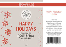 Happy Holidays Room Spray, 2 oz.