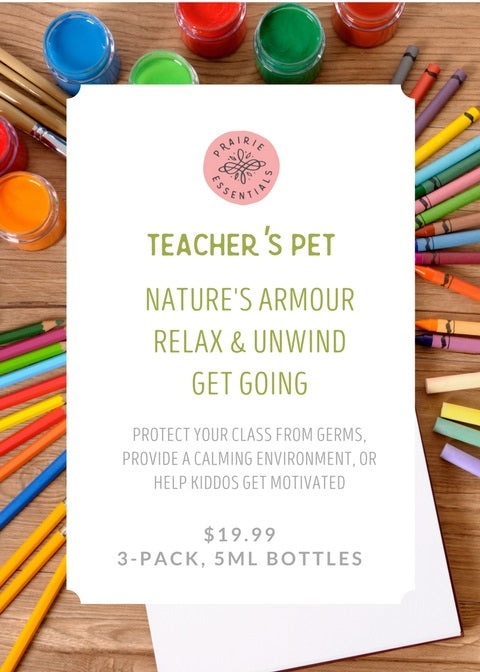 Teacher's Pet Essential Oil Blends 3-pack Set