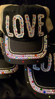 Love - Distressed Lettering w/Bling