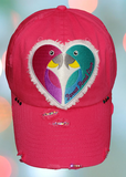 ...Parrot Head Love Bling Cap