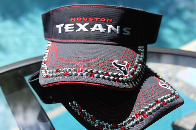Texans Visor - Blinged