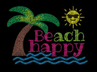 Beach Happy Bling Shirt