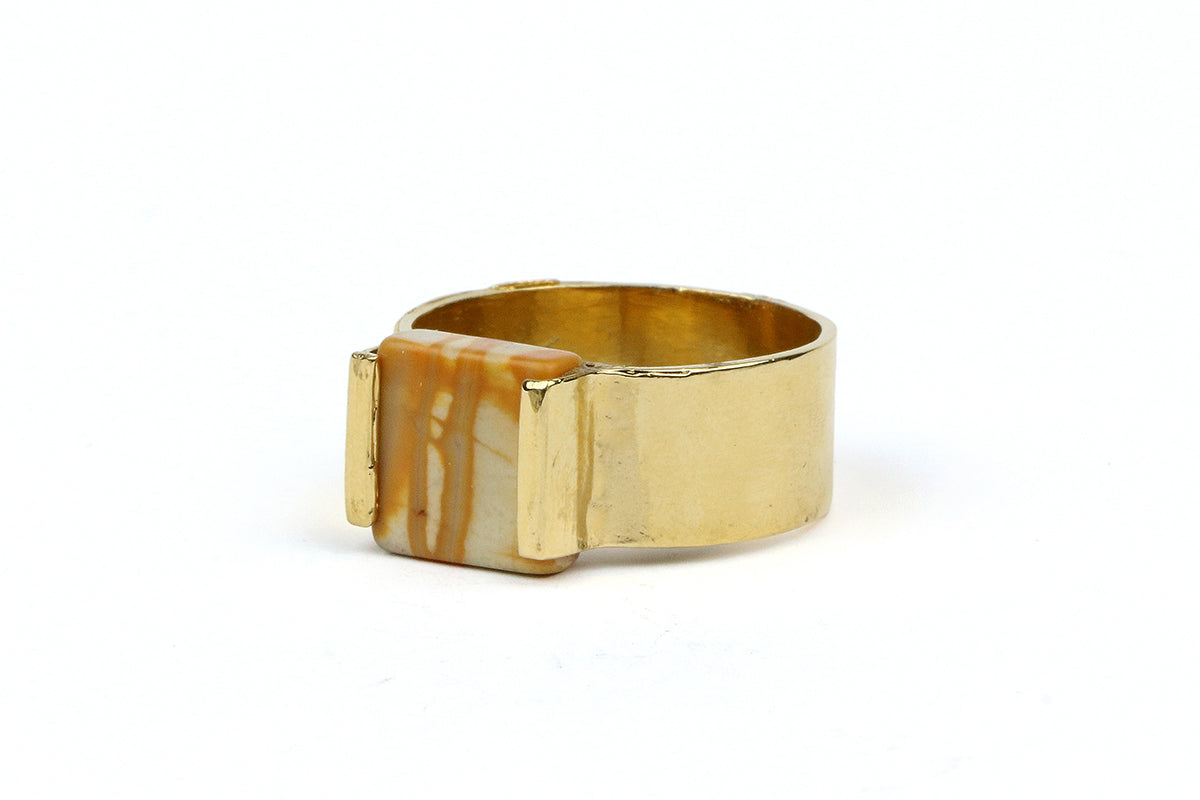 Gold Marble Ring