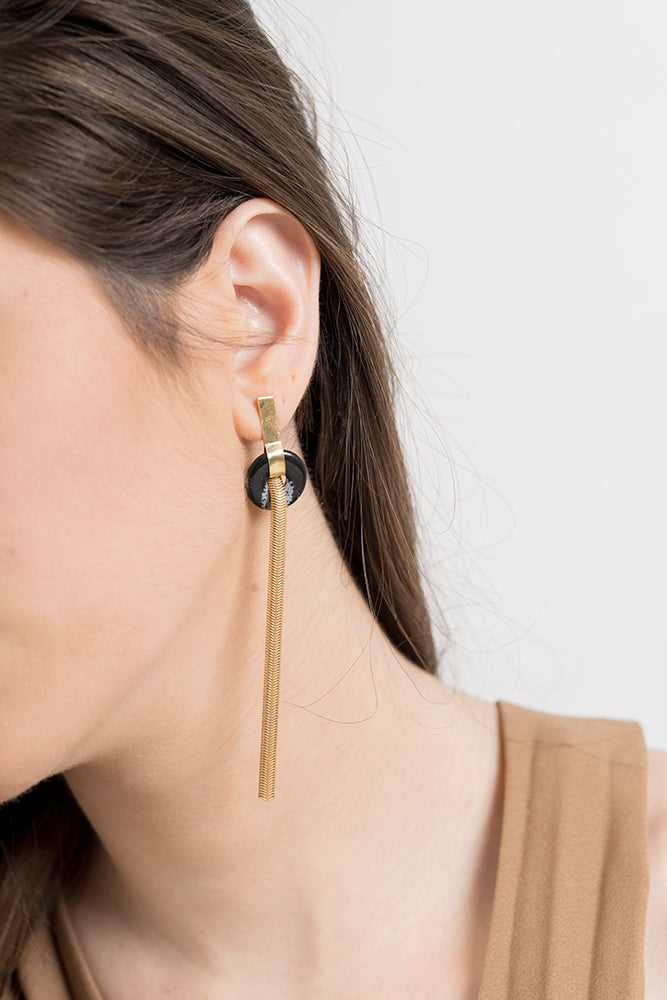 Snake Tail Earring-gold
