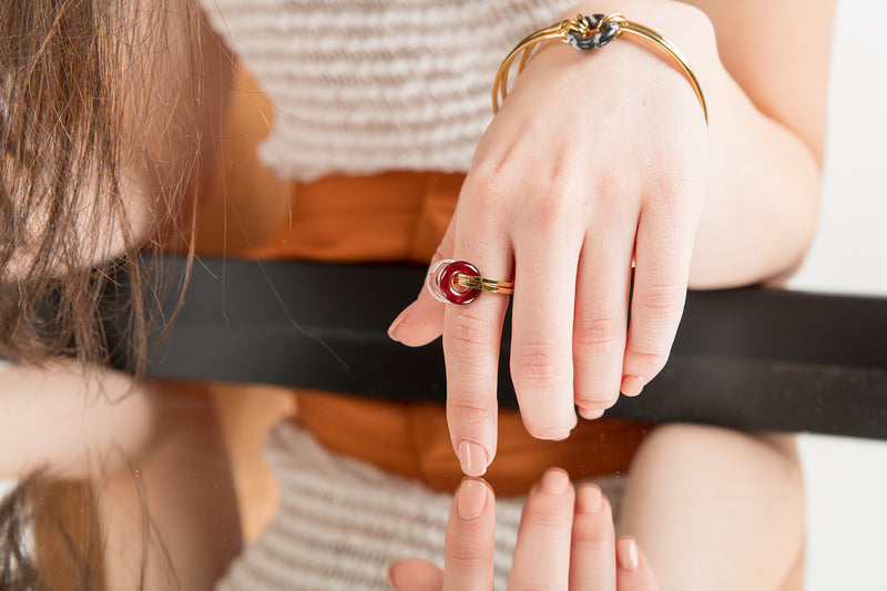 Double Donut Ring-Gold