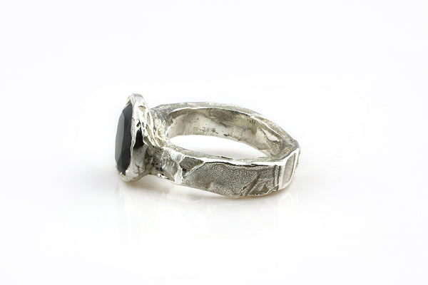 Raw Silver Ring// L