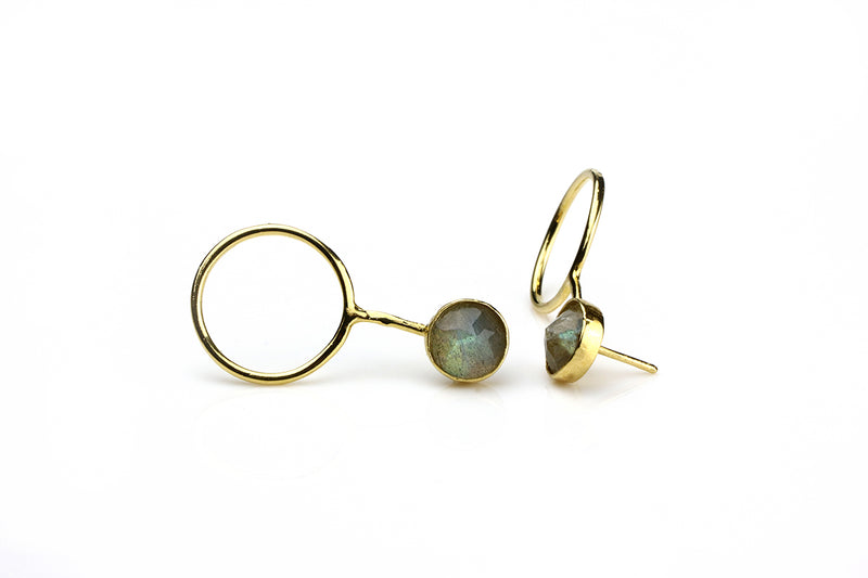 Laso Earrings // Labradorite