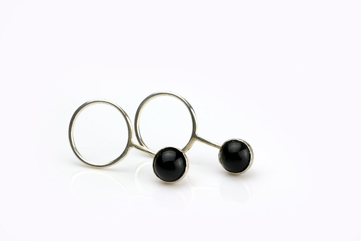 Laso Earrings // Onyx