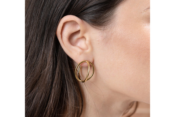 Globe earrings//L